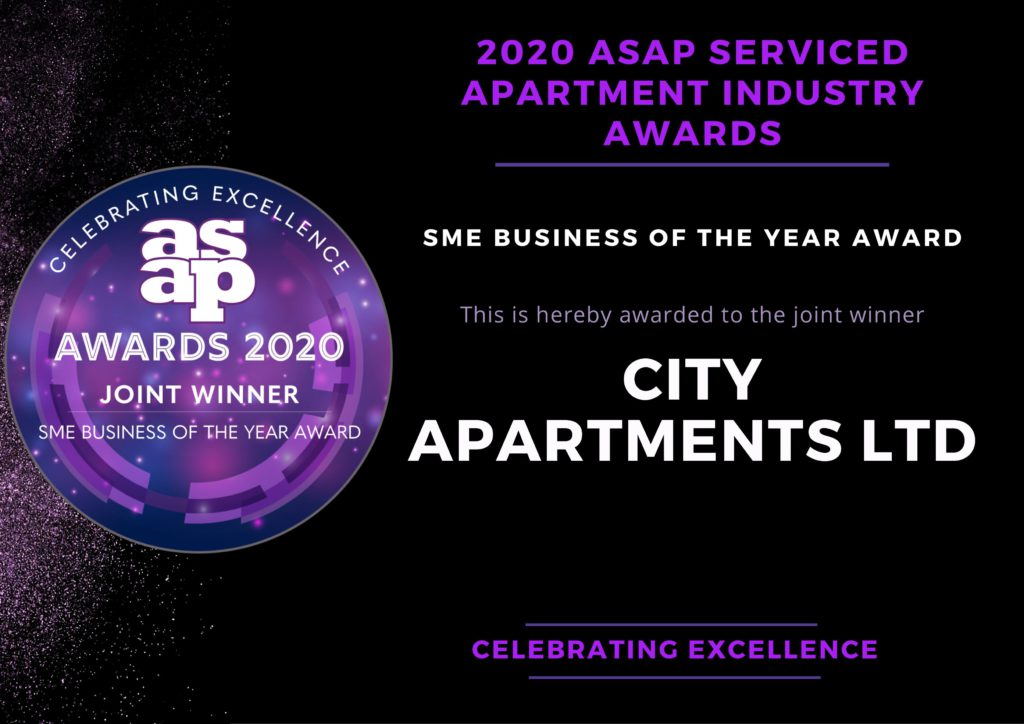 """WE WON! """"SERVICED APARTMENT BUSINESS OF THE YEAR""""!"""